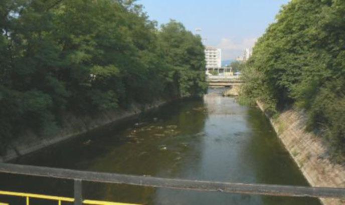 Река Струма потече черна в центъра на Перник