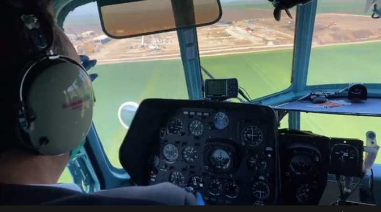 """Борисов провери строежа на """"Балкански поток"""" от хеликоптера"""