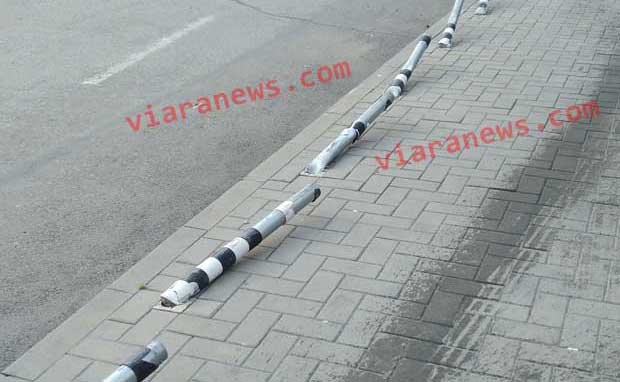 20-годишен шофьор отнесъл 13 предпазни колчета в Дупница