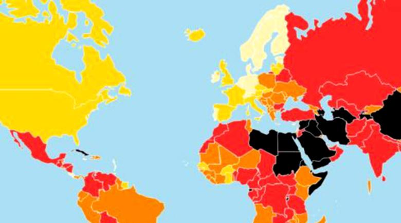 """България остава 111-та по свобода на словото, единствената от ЕС """"в червено"""""""