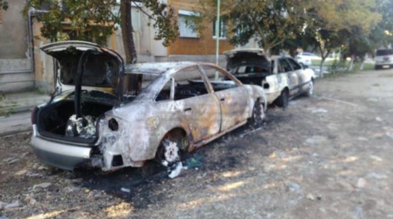 Ауди А6 на превозвач на гастарбайтери изгоря пред дома му