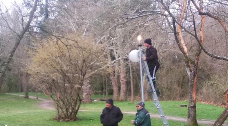 """Възстановиха осветлението в парк """"Бачиново"""""""