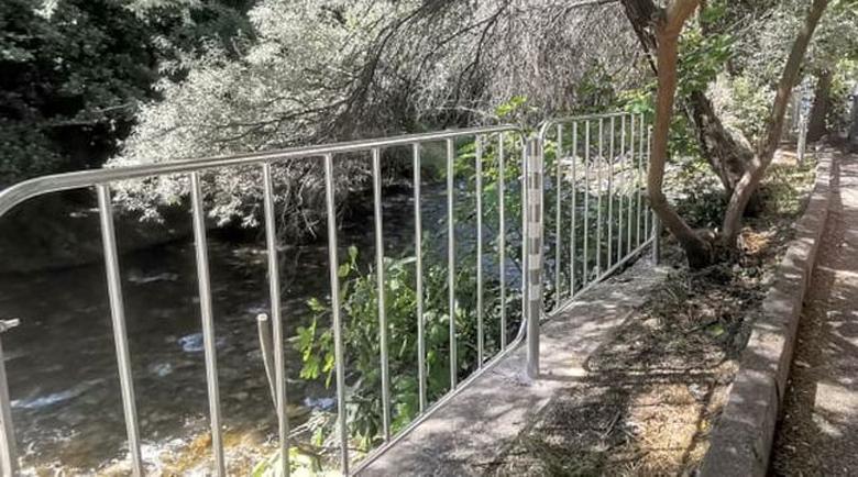 Изграждат предпазен парапет край река Бистрица