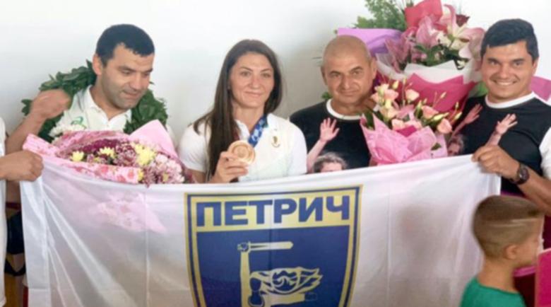 Петрич посрещна радушно бронзовата Евелина Николова