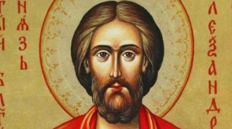 Свети Александър сразява езичниците и еретиците
